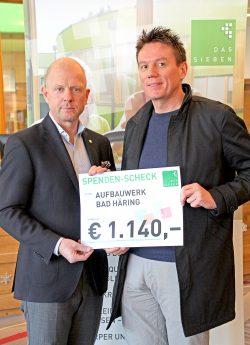 DAS SIEBEN spendete € 1.140,- an das Aufbauwerk