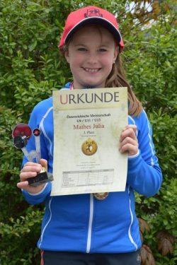ÖM-Bronzemedaillen für Julia Mathes