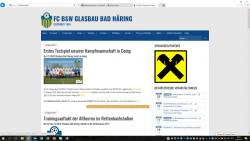 "Projekt ""Vereinshomepages Bad Häring"""