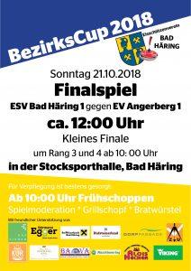 BezirksCup 2018 mit Finalspiel des Eisschützenvereins Bad Häring @ Stocksporthalle Bad Häring