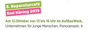 Reparatur Cafe @ Aufbauwerk Bad Häring